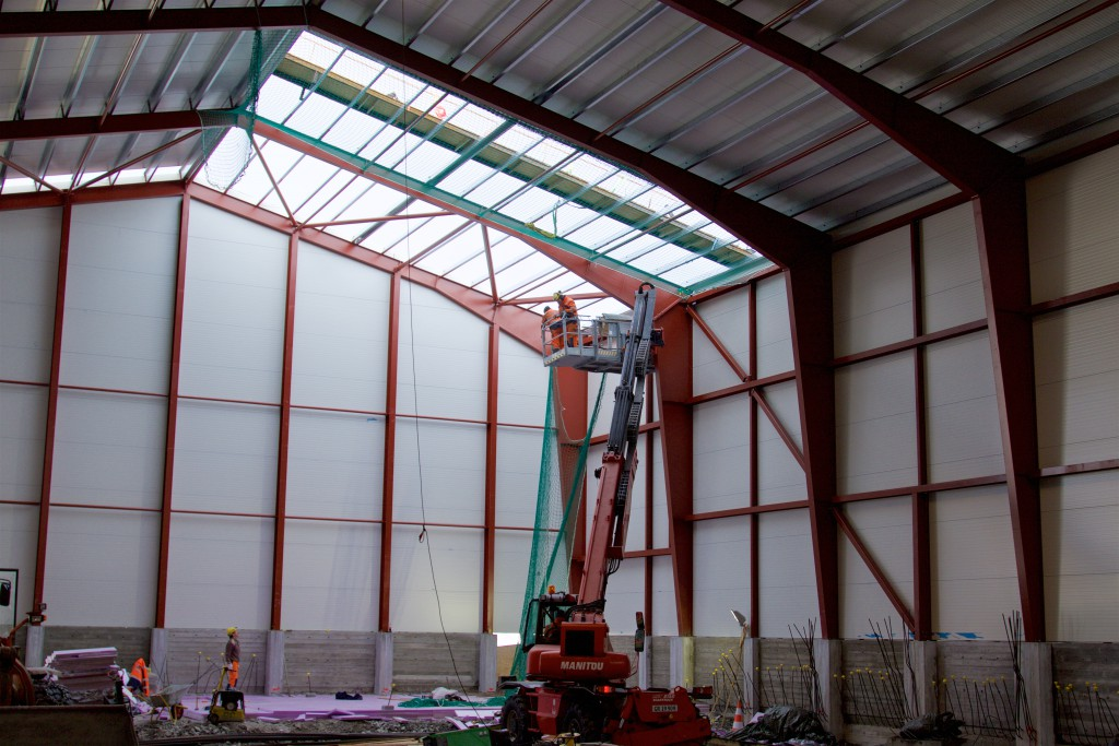 Final installation of the Process Plant building (Late January, 2016)
