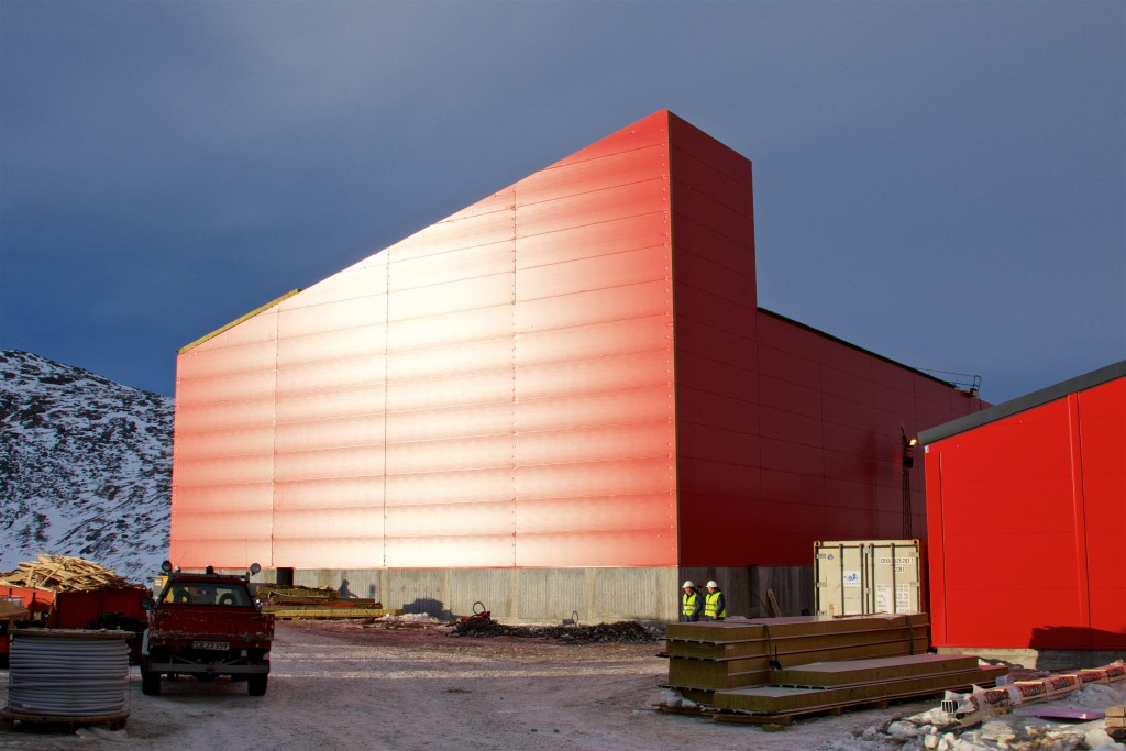 Main shell of Process Plant Building Completed